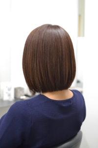 短い髪の縮毛矯正