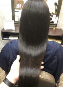 綺麗な髪の面