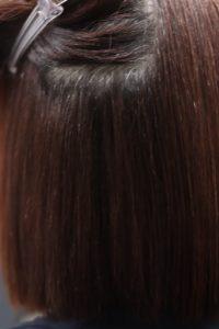 癖毛が縮毛矯正で綺麗になった状態です